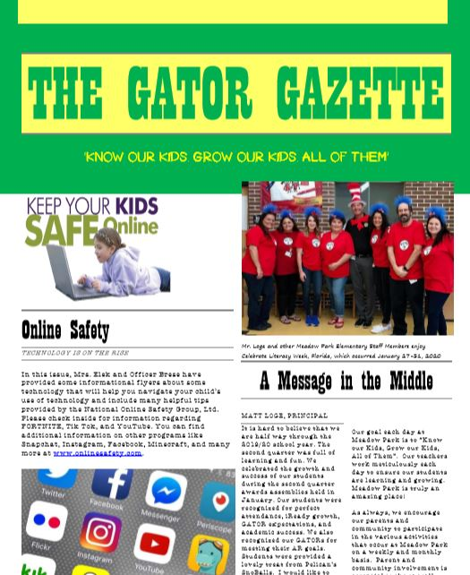 Click Here to Read the Gator Gazette