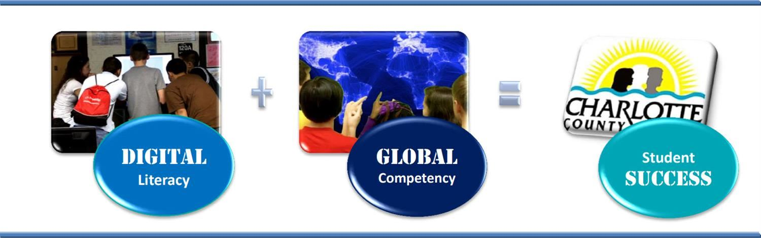 CCPS Technology Vision is Digital Literacy plus Global Competency equals Student Success