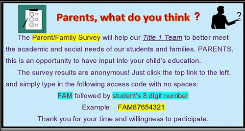 Information about the Parent/Family Survey