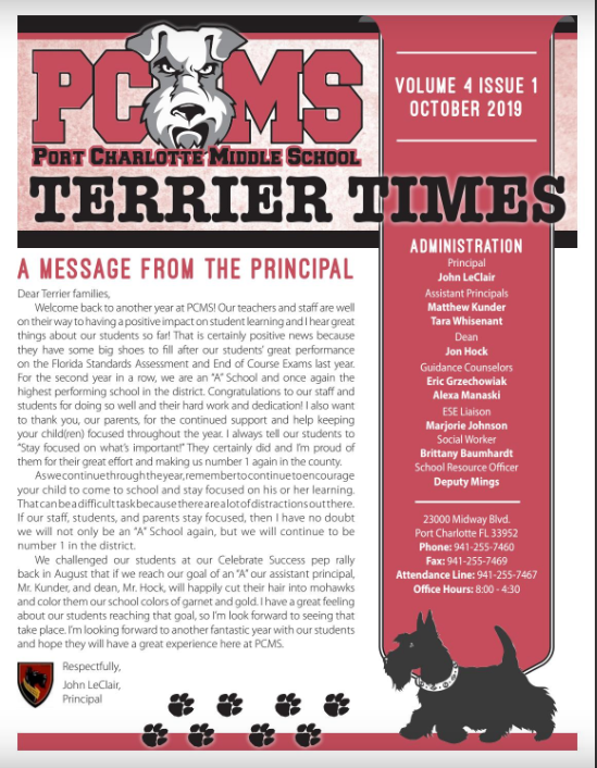 Thumbnail October issue of Terrier Times